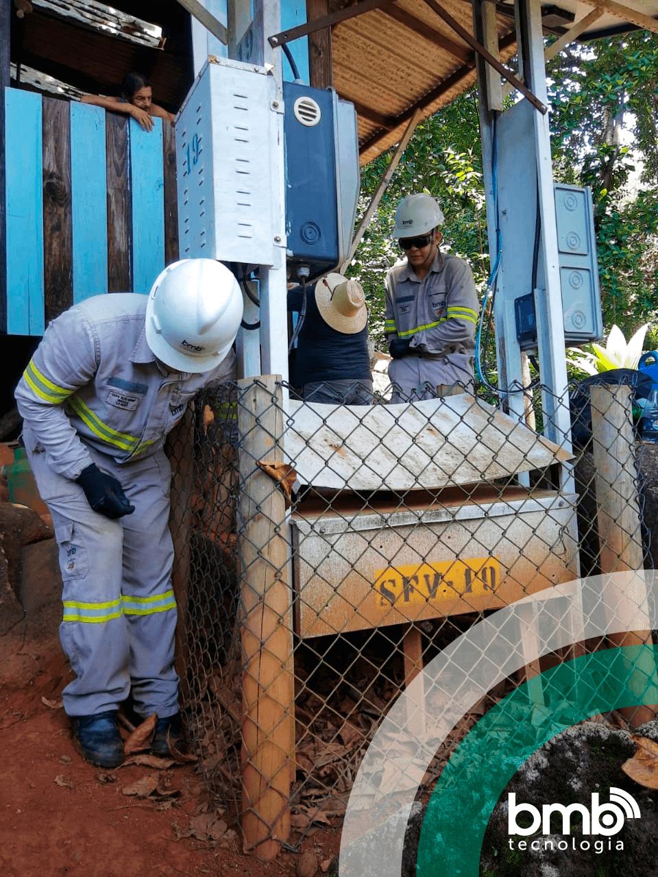 Garantindo o fornecimento de energia para os moradores de Ilha de Montão do Trigo
